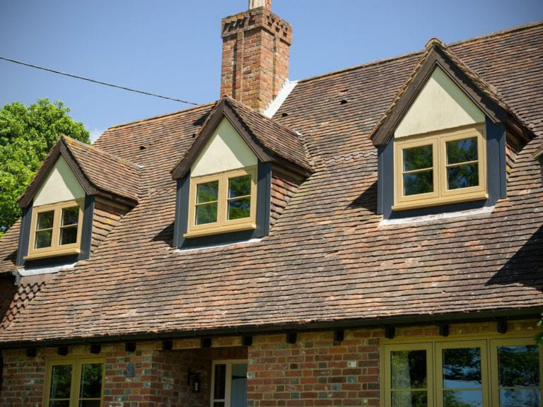 dormer windows on traditional property